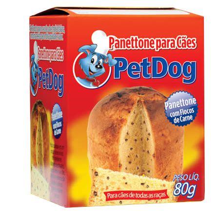 PANETTONE PARA CÃES PET DOG 80G - CARNE