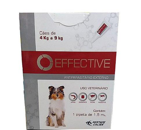 ANTIPARASITÁRIO EXTERNO EFFECTIVE PARA CÃES DE 4 A 9KG