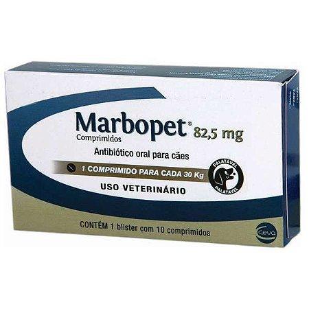 ANTIBIÓTICO - MARBOPET 82,5MG - 10 COMPRIMIDOS