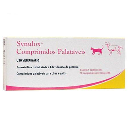 SYNULOX COMPRIMIDOS PALATÁVEIS - 10 COMPRIMIDOS 250MG CADA