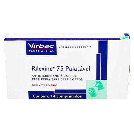 VIRBAC RILEXINE 75 PALATÁVEL 14 COMPRIMIDOS