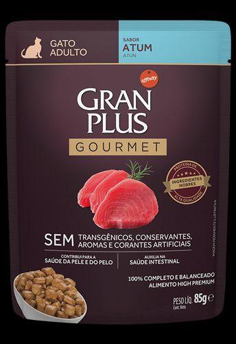 Ração Úmida Affinity PetCare GranPlus Sachê Gourmet para Gatos Adulto Atum - 85g
