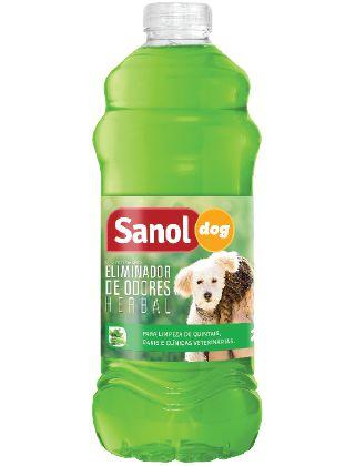 SANOL DOG ELIMINADOR DE ODORES HERBAL 2L