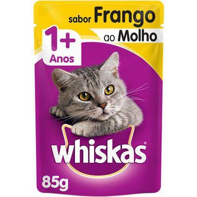 Ração Úmida Whiskas Sachê Frango ao Molho para Gatos Adultos - 85g