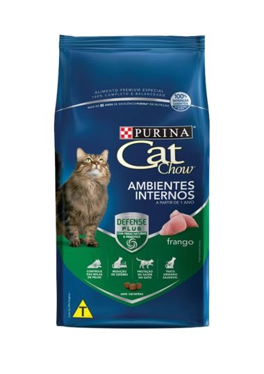 PURINA CAT CHOW AMBIENTES INTERNOS SABOR FRANGO PARA GATOS ADULTOS