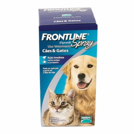 ANTI PULGAS E CARRAPATOS FRONTLINE SPRAY PARA CÃES E GATOS 250ML