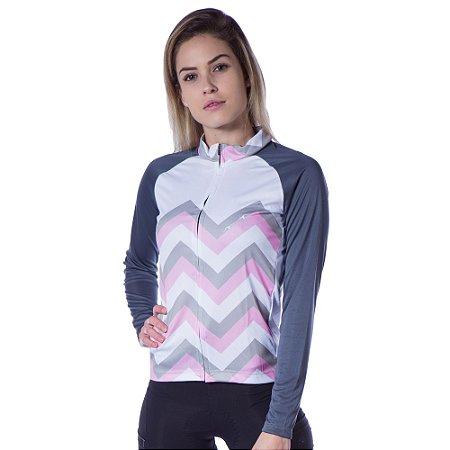 Camisa Chevron Longa - B/R