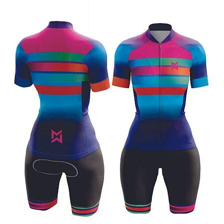 Macaquinho de Ciclismo Feminino Colorido
