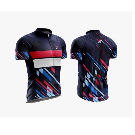 Camisa de Ciclismo - MTB Vermelha/Branca