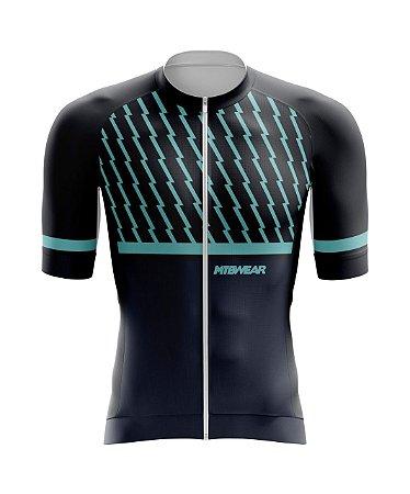 Camisa de Ciclismo Mtb Azul/Preto