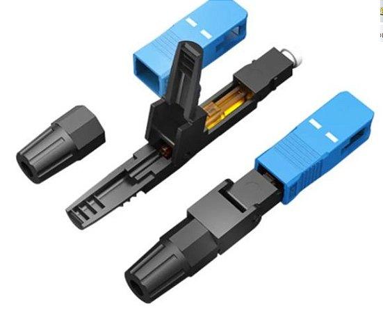 Conector Sc-Upc Fibra Óptica Azul FTTH
