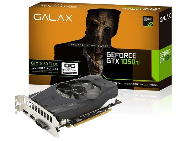 Placa de Vídeo NVIDIA - GTX 1050 TI 4GB GALAX
