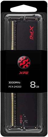 Memória ADATA XPG HUNTER - 8GB (1X8) DDR4 2666MHZ Preta, AX4U26668G16-SBHT