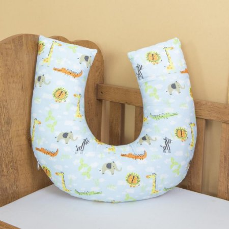 Almofada Amamentação Travesseiro - Modern -  Safari Azul