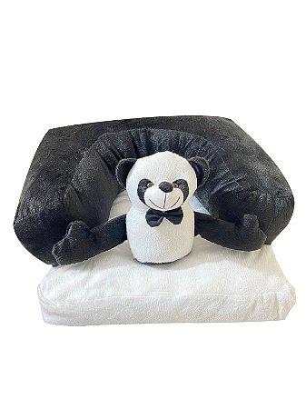 Assento De Bebê - Cadeirinha Sofázinho Multi-  Uso Estofada - Ursinho Panda