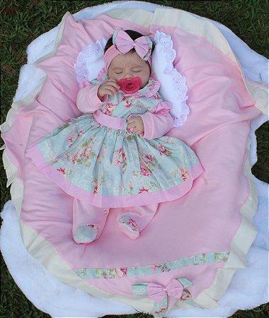 Saída De Maternidade 5 Peças Menina Charmosa Verde