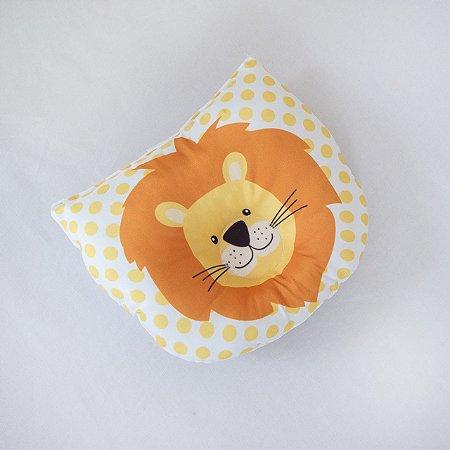 Travesseiro Almofada Rn Bebê Anatômico Para Bebê- Leão Laranja