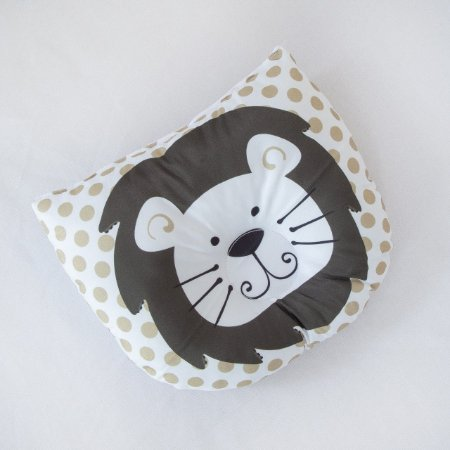 Travesseiro Almofada Rn Bebê Anatômico Para Bebê- Leão Marron