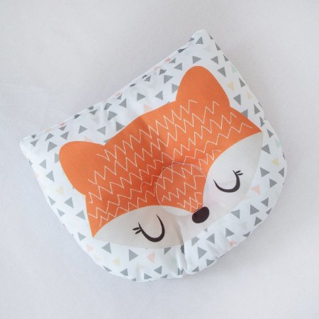 Travesseiro Almofada Rn Bebê Anatômico Para Bebê- Raposa Masculina