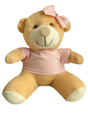 Urso Ursinho De Pelúcia 25cm Decoração Anti-alérgico