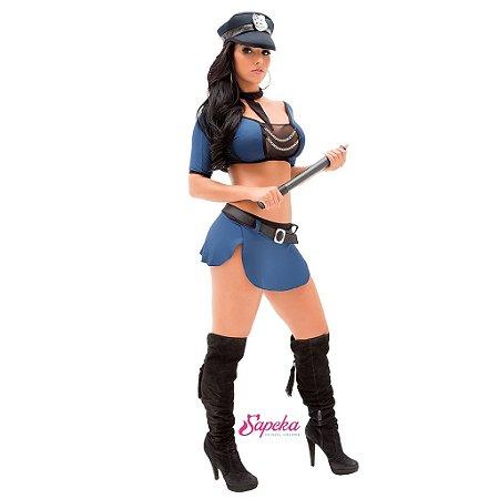 Fantasia Feminina Policial Talya - Tamanho GG