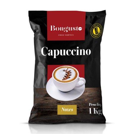 Capuccino Solúvel Nozes 1kg - Bongusto