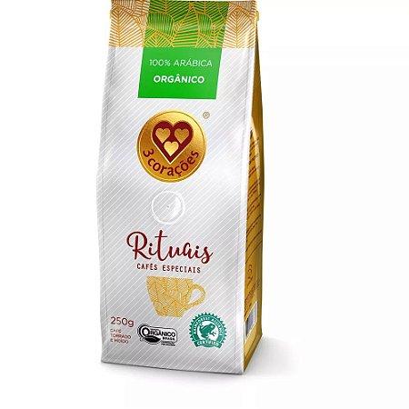 Café Três Corações Rituais Orgânico - Torrado e Moído 250g