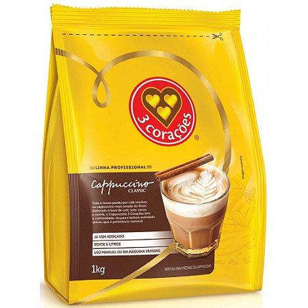 Cappuccino em Pó Solúvel Três Corações Classic - 1Kg