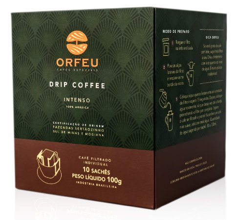 Drip Coffee Orfeu Intenso - 10 Sachês