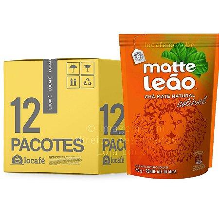 Matte Leão - Chá mate natural solúvel caixa com 600g (12x50g)
