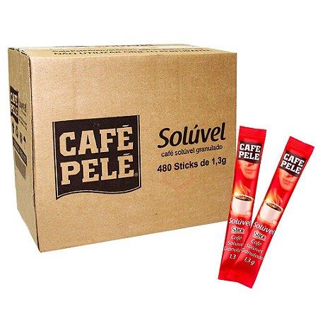Café Pelé solúvel - Stick 1,3g - 480un