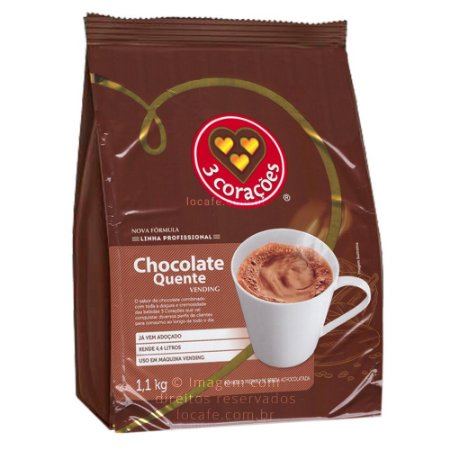 Chocolate em Pó Solúvel Três Corações Vending- 1Kg