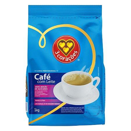 Café com Leite em Pó Solúvel Três Corações Vending- 1Kg