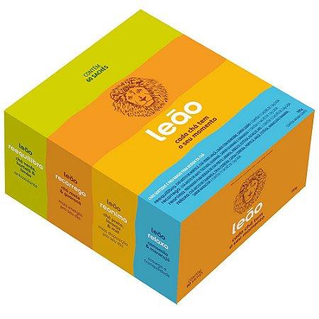 Chá Leão Caixa Mista Funcionais 60 Sachês - 15un De Cada Sabor