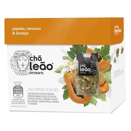Chá Leão Senses Papaia, Laranja & Cenoura Sachês - 10Ud