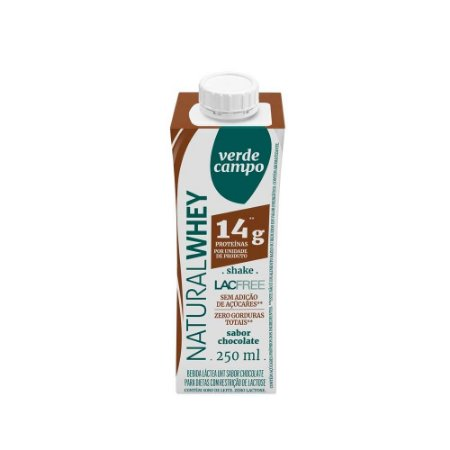 Shake Natural Whey Verde Campo - Chocolate (14g de proteína) 250ml