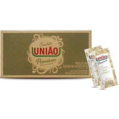 Açúcar Refinado Caixa com 400 Sachês de 5g Premium - União