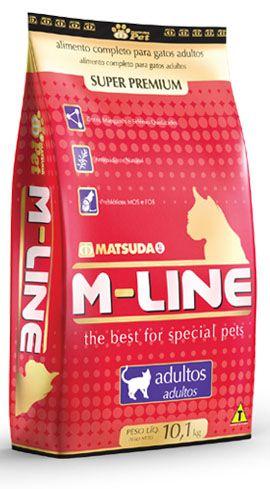 RAÇÃO GATOS SUPER PREMIUM M-LINE ADULTO 1KG