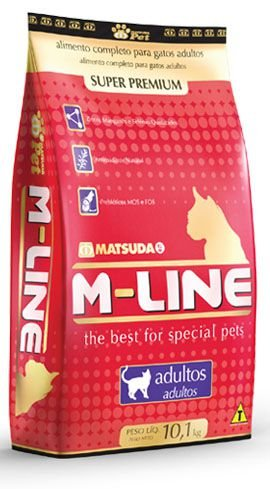 RAÇÃO GATOS SUPER PREMIUM M-LINE ADULTO 10,1 KG