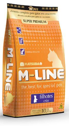 RAÇÃO GATOS SUPER PREMIUM M-LINE FILHOTE 1KG