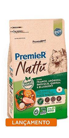 RAÇÃO PREMIER NATTU ADULTO 2,5KG (FRANGO, ABOBORA, BROCOLIS, QUINOA E BLUEBERRY)