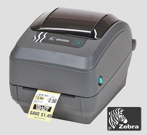 Impressora de etiquetas Zebra GK420T|Rede Ethernet