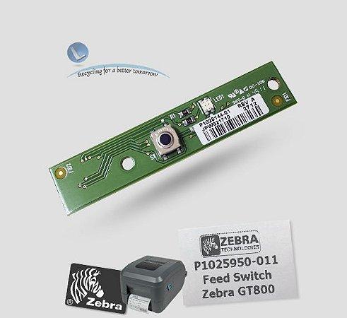 Placa Botão de Avanço Zebra GT800| P1025950-011