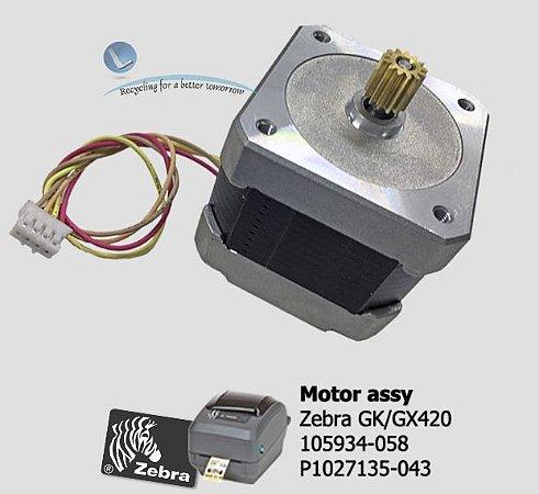 Motor Assy 203dpi Zebra GK420/GX420|P1027135-043