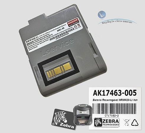 Bateria Recarregável Zebra RW420| AK17463-005 | HRW420-Li