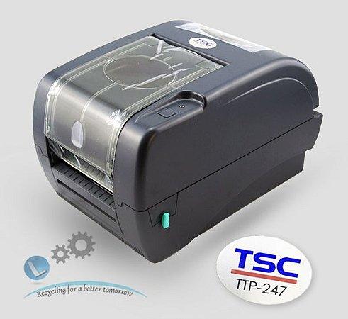 Impressora de etiquetas TSC TTP 247 + rede ethernet