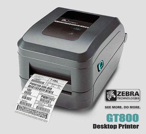 Impressora de etiquetas Zebra GT800| Usb/Serial/Paralela