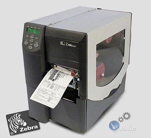 Impressora de etiquetas Zebra Z4M Plus com Peel off e Rebobinador full