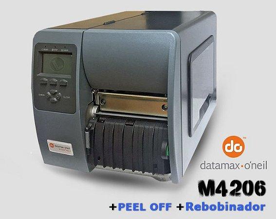 Impressora Datamax M4206 com Peel Off + Rebobinador