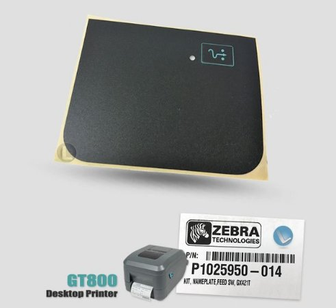 Adesivo Nameplate, Feedswitch Zebra GT800 | P1025950-014